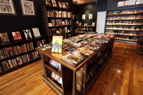 Bergen Street Comics's inviting interior is devoid of clutter and dorkyness.